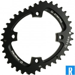 O.Symetric Oval Chainring 104BCD 4-arms outerblade 38 Sram XO