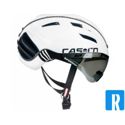 Bike helmet and visor Casco SPEEDster black-white