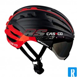 Casco SPEEDairo black - red bike helmet