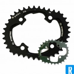 O.Symetric Oval Chainring 104BCD middle blade 34 XC3