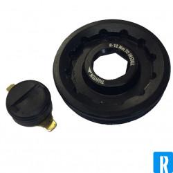 Rotor Crank Bolt 2INpower Left Black 8mm inbus