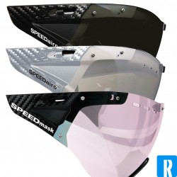 Casco SPEEDmask visor - carbonic clear