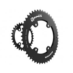 Rotor Q-ring GRX Oval Chainring - Inner / Outer (BCD80/110x4)